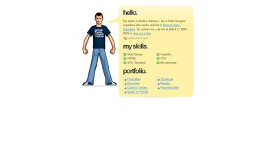 Andres Galante Website Screenshot