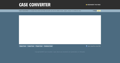 Case Converter Website Screenshot