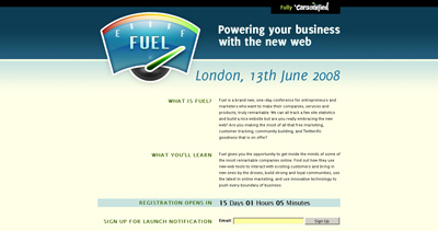 Fuel Conference Website Screenshot