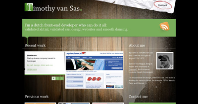 Timothy van Sas Website Screenshot