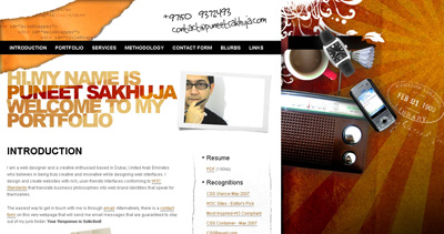 Puneet Sakhuja Website Screenshot