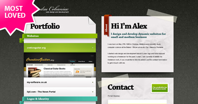 Alexandru Cohaniuc Website Screenshot