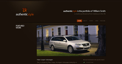 Authentic Style Website Screenshot