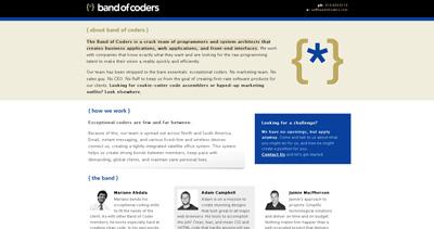band of coders Website Screenshot