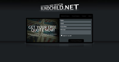 Blind Child Website Screenshot