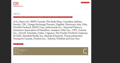 Common Brand Website Screenshot