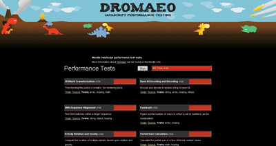 Dromaeo Website Screenshot