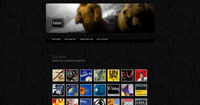 Fade Website Screenshot
