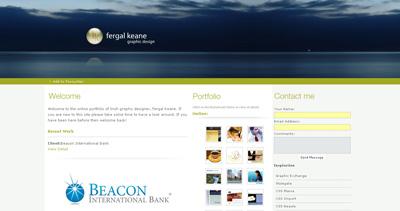 Fergal Keane Website Screenshot