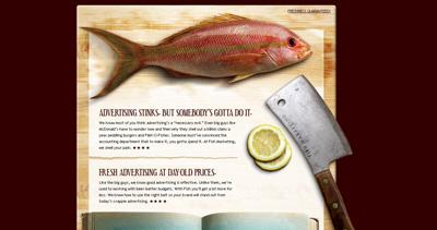 Fish Marketing Website Screenshot