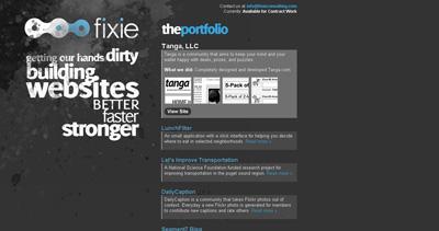 Fixie Website Screenshot