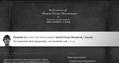 Hamish Macpherson Website Screenshot
