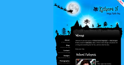 Kishore Nagarigari Website Screenshot