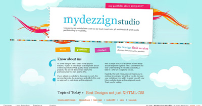 MyDezzign Studio Website Screenshot