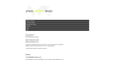 phaziz interface design Website Screenshot