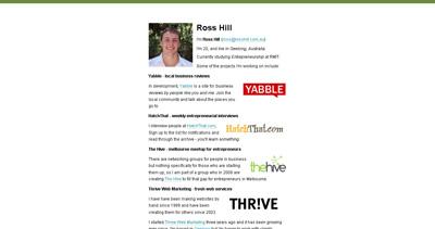 Ross Hill Website Screenshot