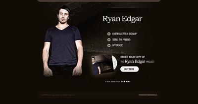 Ryan Edgar Website Screenshot