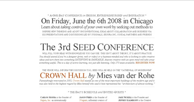 Seed Conference Website Screenshot