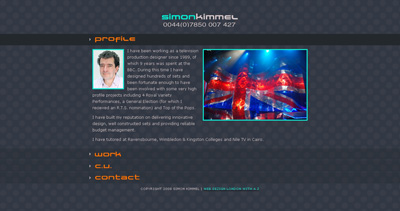 Simon Kimmel Website Screenshot