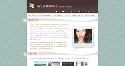 Tanya Merone Website Screenshot