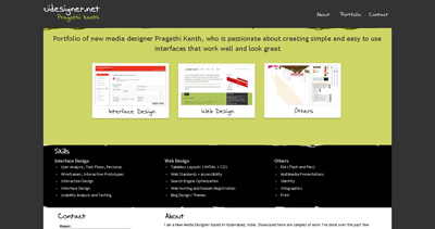 Pragathi Kanth Website Screenshot