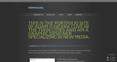 Adam Hickey Website Screenshot