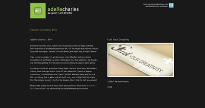 adelle charles Website Screenshot