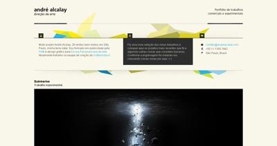 André Alcalay Website Screenshot