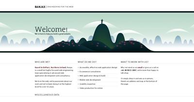 Banjax Web Design Website Screenshot