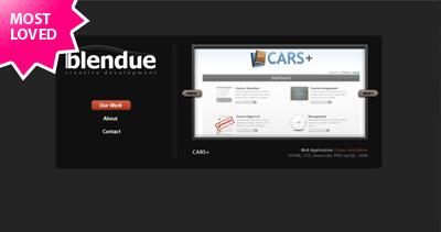 Blendue Website Screenshot
