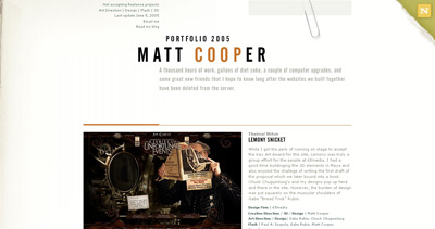 Matt Cooper Website Screenshot