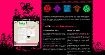 Dragon Armoury Creative Website Screenshot