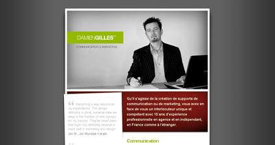 Damien Gilles Website Screenshot