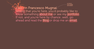 Francesco Mugnai Website Screenshot