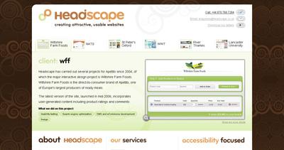 Headscape Website Screenshot