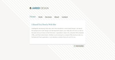 Jared Design Website Screenshot