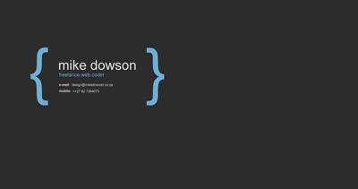 Mike Dowson Website Screenshot