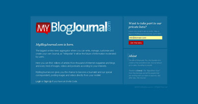 MyBlogJournal Website Screenshot