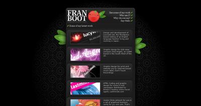 Fran Boot Website Screenshot