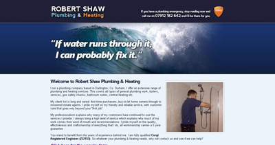 Robert Shaw Website Screenshot