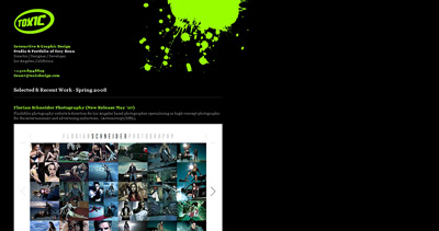 Toxic Design Website Screenshot