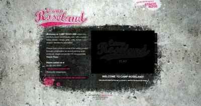 Camp Roseland Website Screenshot