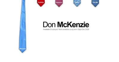 Don McKenzie Website Screenshot