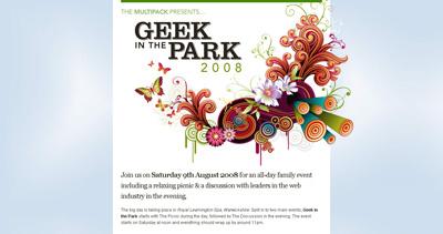 Geek in the park 2008 Website Screenshot