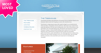 Harbour Island Treehouse Website Screenshot