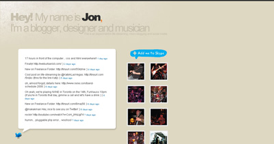 Jon Phillips Website Screenshot