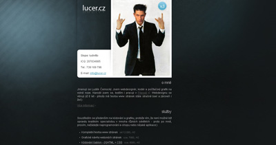 Luděk Černocký Website Screenshot