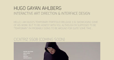 Hugo Gayan Ahlberg Website Screenshot