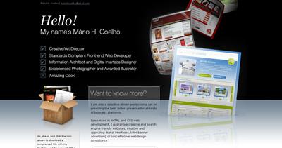 Mário Coelho Website Screenshot