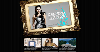 Miss BiH for Miss World Website Screenshot